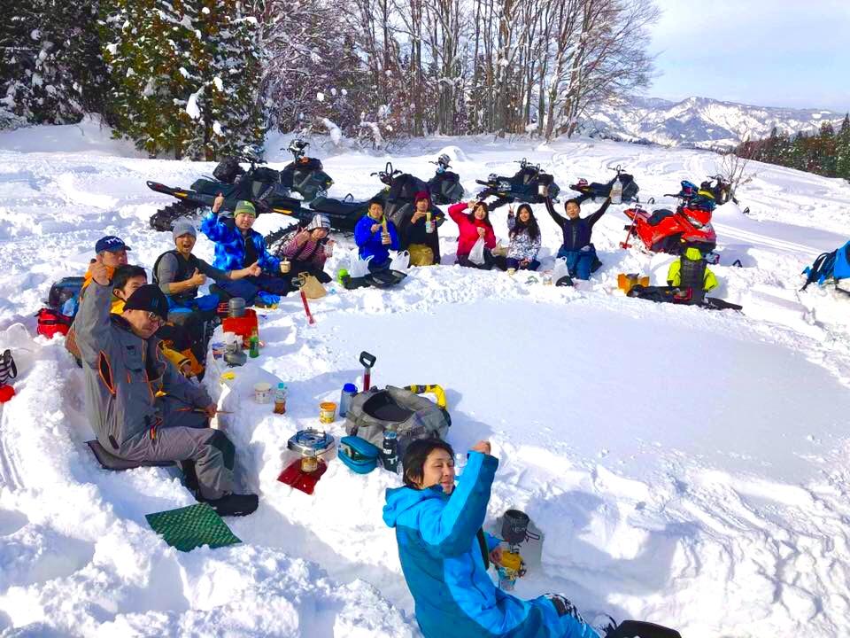 雪山でランチ<yogc>